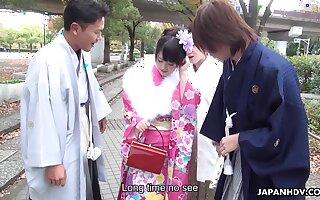 Hot and starving Japanese nympho Tsuna Kimura is fucked on the tatami