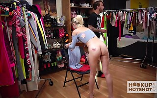 Sexy Jessie Saint is changing garments and getting naked in the process