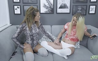 Softcore oral fun leads these chicks to insane cock sharing XXX