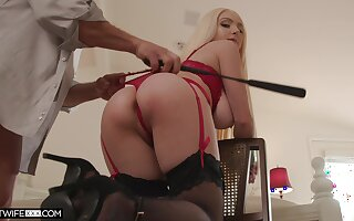 Ass whipped and tied up during sex be fitting of a complete maledom