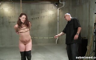 Full appetency for a slim redhead in scenes be incumbent on full obedience