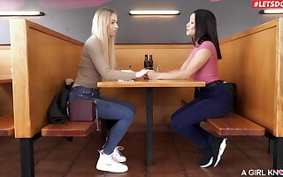 Fine dolls share a bit of sexual relationship after a nice lesbian nomination