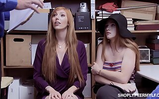Red haired stepmom and stepdaughter are punished for overcharging