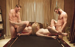 Foursome for the young babes after they decide just about swap partners