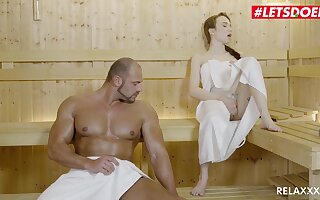 Cute Tattooed Teen Angel Rush Gets Her Pussy Destroyed By A Out-and-out Big Guy - Angel rush in Sauna