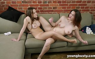 Crazy lezzie scissoring drives both dolls insanely hot