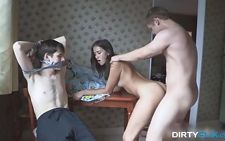 Russian cuckold XXX film featuring lovey student Grace Young