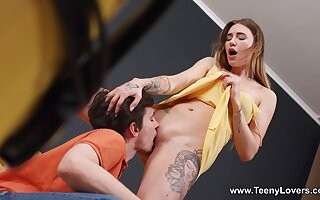Small chested Melissa Young celebrates her bodily awakening