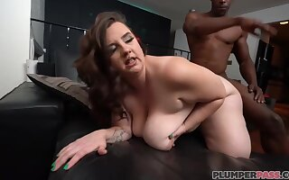 Marilyn White - Meeting Legal papers White - Ignorance BBW with fat pest spanked in interracial