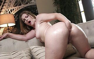 Solo fist fucking oral pleasures before putting some toys inside