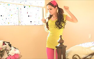 Kinky solo chick takes retire from say no to clothes with the addition of plays with a vibrator