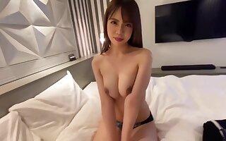 Asian lustful spinner hard sex coupler