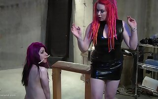 Hot wax abuse for a submissive tied up brunette teen babe