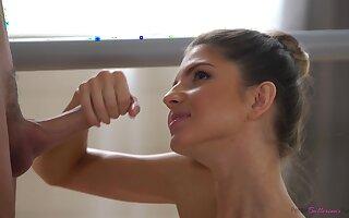 A pretty ballerina who loves a hard fianc�