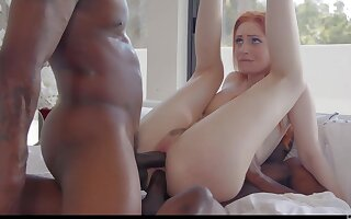 Kinky white Maya Kendrick is boost to shtick on big strong BBCs