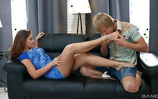 Mind unclean Russian action in all directions creampie in the end