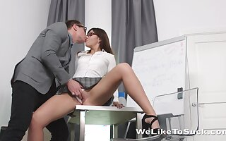 Dull pub sexy looking university girl Lanna feels great fucking doggy with tutor