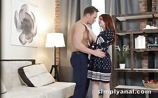 Charming perforator girl Renata Fox gets say no to anus fucked for the first time