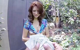 Big Ass, Big Tits, Redhead Teen Picked Up And Fucked Be expeditious for Cash, POV