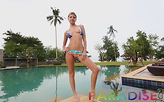 Naughty pretty GF Valentina loves fucking face to face in the pool