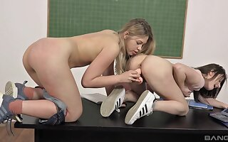 Young girls Selvaggia with the addition of Gabriella Lati sexually explore join up with