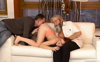 Two old granny s and beggar fucks big gut milf Quick